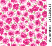 vector pattern of a rose pretty ... | Shutterstock .eps vector #1652268265