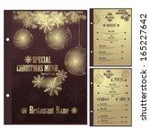special christmas restaurant... | Shutterstock .eps vector #165227642