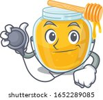 a mascot picture of honey... | Shutterstock .eps vector #1652289085