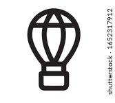 hot air balloon icon trendy and ...