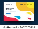 landing page template design....   Shutterstock .eps vector #1652328865