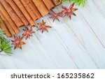 cinnamon and anise | Shutterstock . vector #165235862