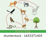 the food chain in nature.... | Shutterstock .eps vector #1652371405