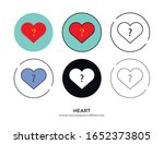 various type of heart set with... | Shutterstock .eps vector #1652373805