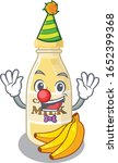 funny clown cashew milk cartoon ... | Shutterstock .eps vector #1652399368