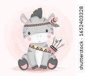 watercolor style zebra... | Shutterstock .eps vector #1652403328
