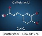 caffeic acid  c9h8o4 molecule.... | Shutterstock .eps vector #1652434978