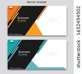abstract business banner... | Shutterstock .eps vector #1652454502