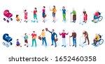 set of men and women cartoon...   Shutterstock . vector #1652460358