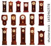 Pendulum Clock Icons Set....