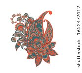 paisley isolated pattern.... | Shutterstock . vector #1652472412
