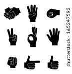 hands gesture over white ... | Shutterstock .eps vector #165247592