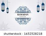 ramadan kareem. greeting... | Shutterstock .eps vector #1652528218