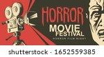 vector poster for a horror... | Shutterstock .eps vector #1652559385