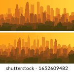 set of horizontal banners of a... | Shutterstock .eps vector #1652609482