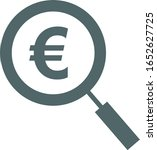 euro icon. euro symbol. vector... | Shutterstock .eps vector #1652627725