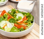 Salad With Tomato  Cucumber An...
