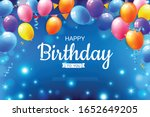 happy birthday text with a... | Shutterstock .eps vector #1652649205