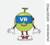 cantaloupe melon cartoon mascot ... | Shutterstock .eps vector #1652679922