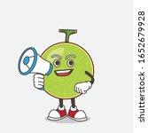 cantaloupe melon cartoon mascot ... | Shutterstock .eps vector #1652679928