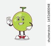 cantaloupe melon cartoon mascot ... | Shutterstock .eps vector #1652680048