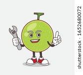 cantaloupe melon cartoon mascot ... | Shutterstock .eps vector #1652680072