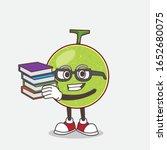 cantaloupe melon cartoon mascot ... | Shutterstock .eps vector #1652680075