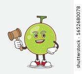 cantaloupe melon cartoon mascot ... | Shutterstock .eps vector #1652680078