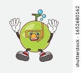 cantaloupe melon cartoon mascot ... | Shutterstock .eps vector #1652680162