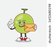 cantaloupe melon cartoon mascot ... | Shutterstock .eps vector #1652680198