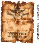 wanted leaflet | Shutterstock .eps vector #165269846