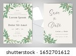 greenery wedding invitation...   Shutterstock .eps vector #1652701612
