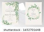 greenery wedding invitation... | Shutterstock .eps vector #1652701648