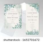 watercolor wedding invitation... | Shutterstock .eps vector #1652701672