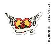 sticker of tattoo in... | Shutterstock . vector #1652776705
