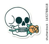 sticker of tattoo in... | Shutterstock . vector #1652788618