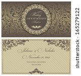 wedding invitation cards... | Shutterstock .eps vector #165279122