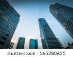 modern business center in... | Shutterstock . vector #165280625