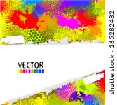 abstract colorful watercolor... | Shutterstock .eps vector #165282482