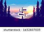 signpost in wilderness with... | Shutterstock .eps vector #1652837035