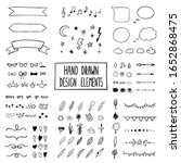 black and white modern set with ... | Shutterstock . vector #1652868475