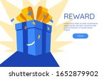 online reward gift box vector...