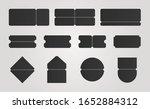 black concert ticket template.... | Shutterstock .eps vector #1652884312