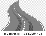 winding road with tire tracks...   Shutterstock .eps vector #1652884405