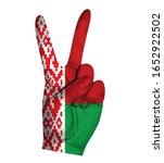 victoria finger gesture with... | Shutterstock .eps vector #1652922502