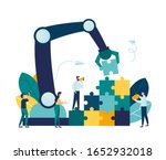 business concept. team metaphor.... | Shutterstock .eps vector #1652932018