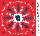 spring  merry christmas folk... | Shutterstock .eps vector #1652952265