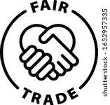 Fair Trade Black Outline Icon