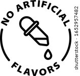 no artificial flavors outline... | Shutterstock .eps vector #1652957482