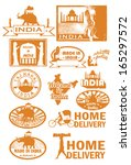 india icons set  vector   Shutterstock .eps vector #165297572